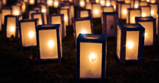 candle luminaries photo for The Holiday Project by Annette Segal of The Valiant Group